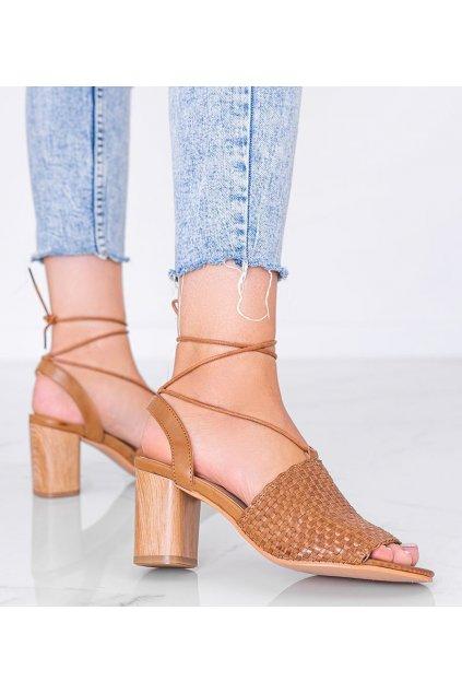 Dámske topánky sandále hnedé kód 9497 - GM