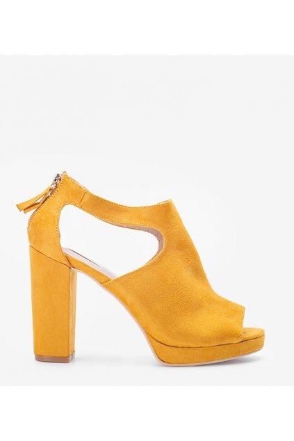 Dámske topánky sandále žlté kód 1A-19287 - GM