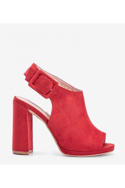 Dámske topánky sandále červené kód 1A-19280 - GM