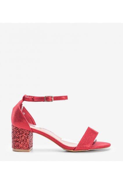 Dámske topánky sandále červené kód LL6290 - GM