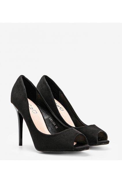 Dámske topánky lodičky čierne kód LEI-203 - GM