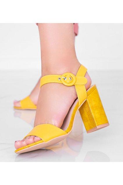 Dámske topánky sandále žlté kód H783 - GM