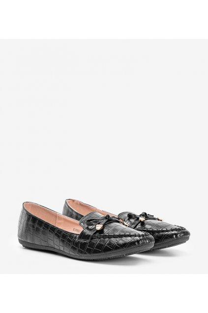Dámske topánky mokasíny čierne kód LL6501 - GM