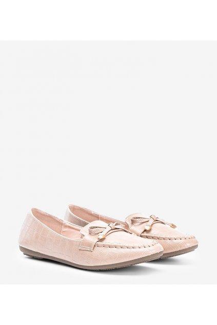 Dámske topánky mokasíny hnedé kód LL6501 - GM