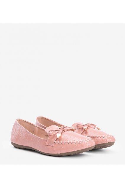 Dámske topánky mokasíny ružové kód LL6501 - GM