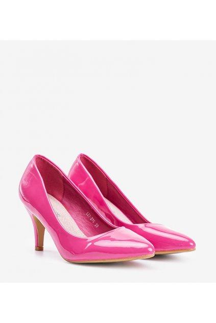 Dámske topánky lodičky ružové kód LEI-216 - GM