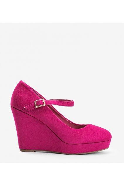 Dámske topánky lodičky ružové kód LEI-255 - GM