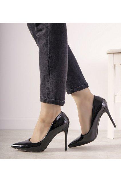 Dámske topánky lodičky čierne kód 69598 - GM