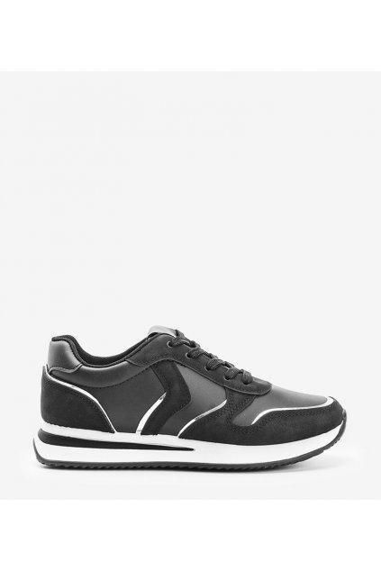 Dámske topánky tenisky čierne kód 1092 - GM