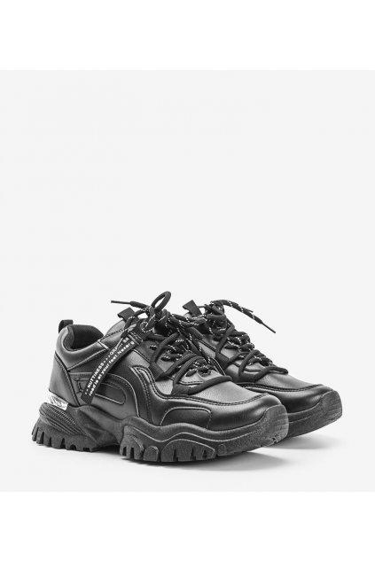 Dámske topánky tenisky čierne kód JR1219 - GM