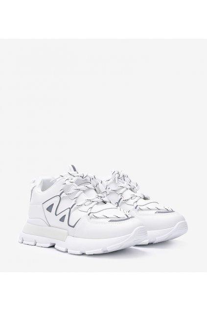 Dámske topánky tenisky biele kód 9932 - GM