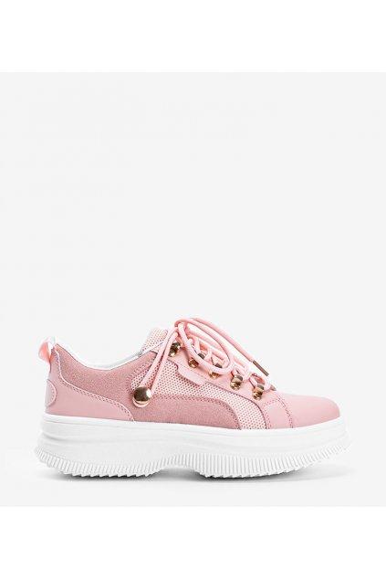 Dámske topánky tenisky ružové kód 2060 - GM