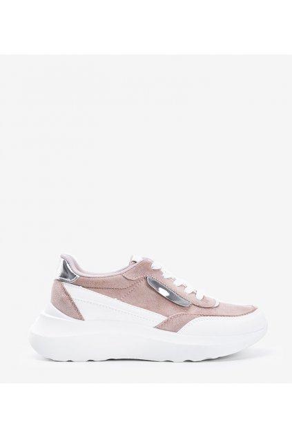 Dámske topánky tenisky biele kód A88-75 - GM