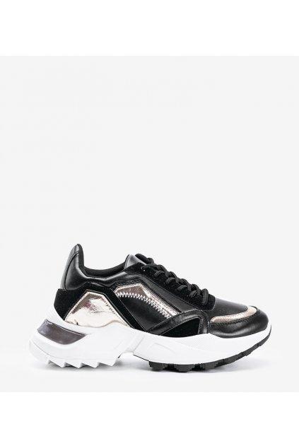Dámske topánky tenisky čierne kód YM-170 - GM