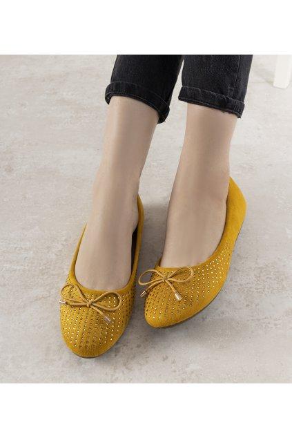 Dámske baleríny žlté kód DY-02 - GM