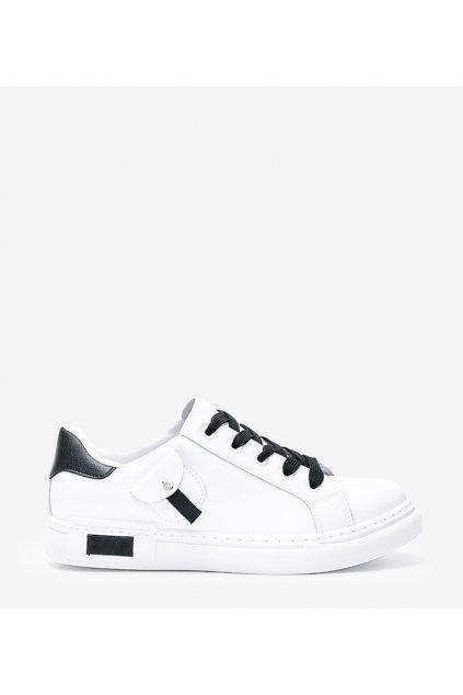 Dámske topánky tenisky biele kód 1AP-1027 - GM