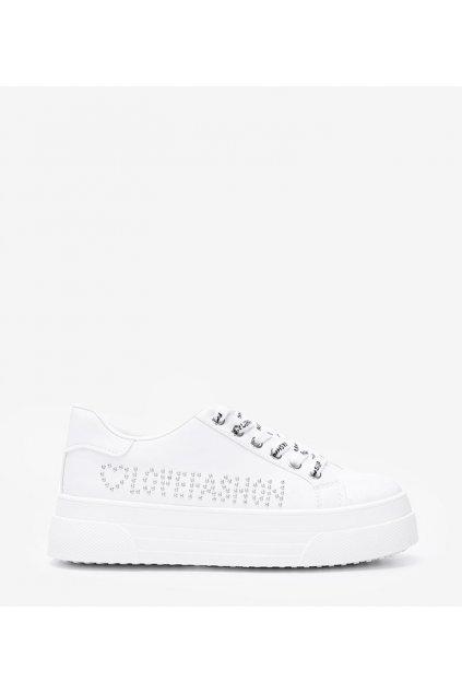 Dámske topánky tenisky biele kód 1AP-1046 - GM