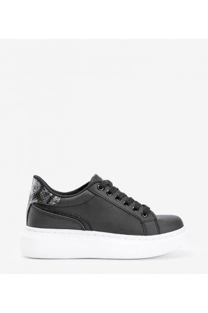 Dámske topánky tenisky čierne kód C2021 - GM