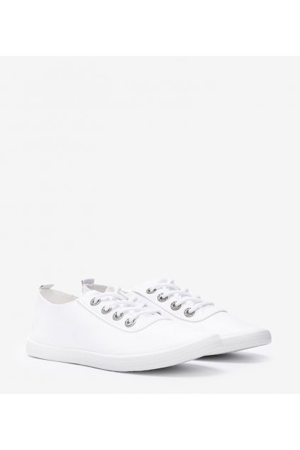 Dámske topánky tenisky biele kód W9786-2 - GM