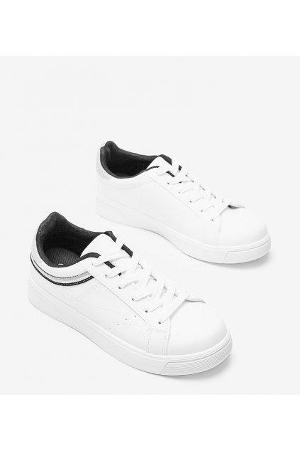 Dámske topánky tenisky biele kód B0-686 - GM
