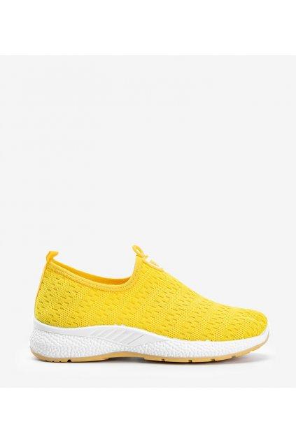 Dámske topánky tenisky žlté kód C015 - GM
