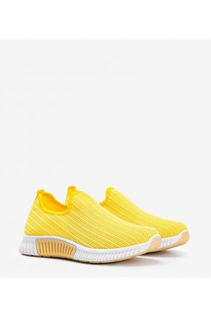 Dámske topánky tenisky žlté kód SP011 - GM