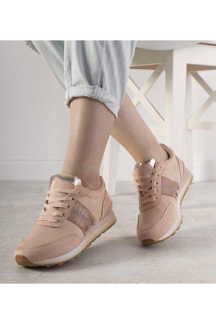 Dámske topánky tenisky ružové kód FB-91 - GM