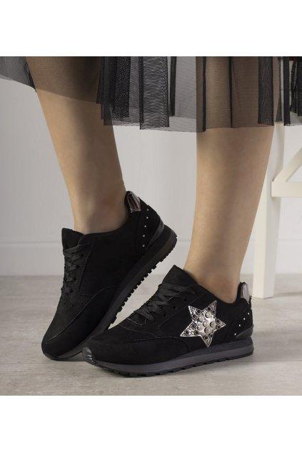 Dámske topánky tenisky čierne kód FB-95 - GM
