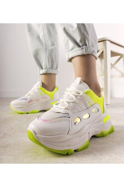 Dámske topánky tenisky biele kód R12YD518-12 - GM