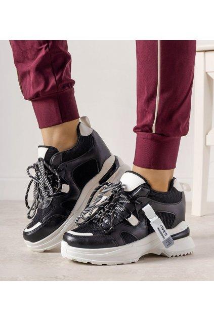 Dámske topánky tenisky čierne kód 0190-01 - GM