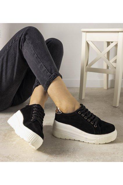 Dámske topánky tenisky čierne kód E3142 - GM