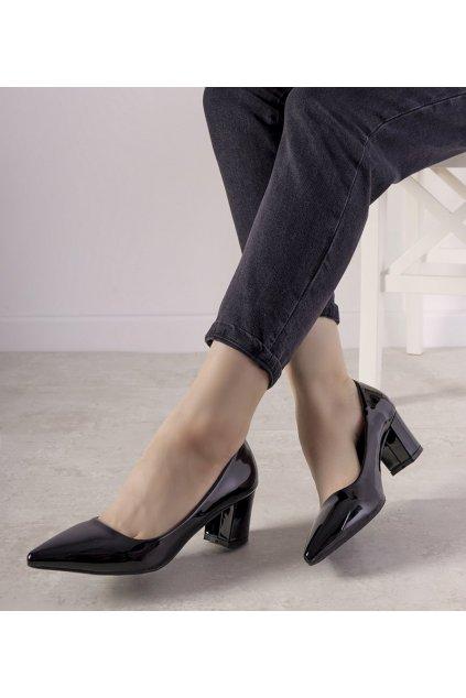 Dámske topánky lodičky čierne kód 69603 - GM