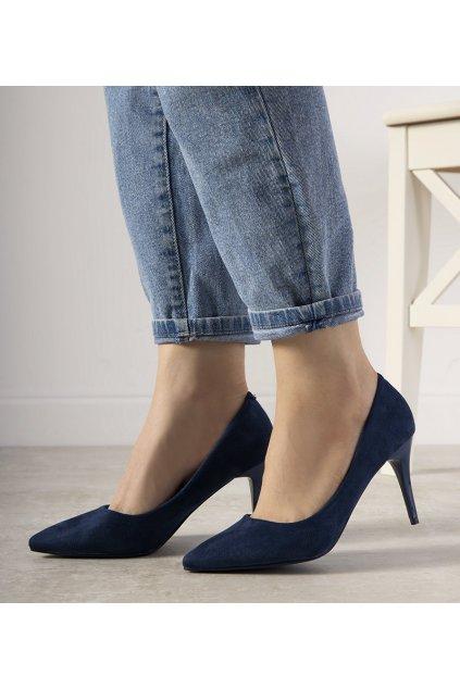 Dámske topánky lodičky modré kód L428 - GM
