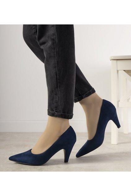 Dámske topánky lodičky modré kód L432 - GM