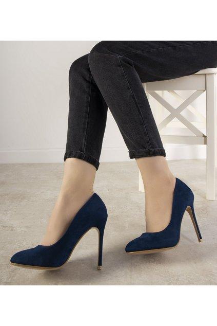 Dámske topánky lodičky modré kód LZ5813 - GM