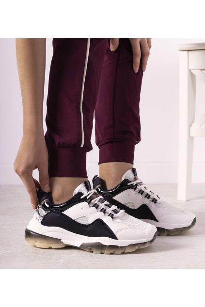 Dámske topánky tenisky biele kód 9797 - GM