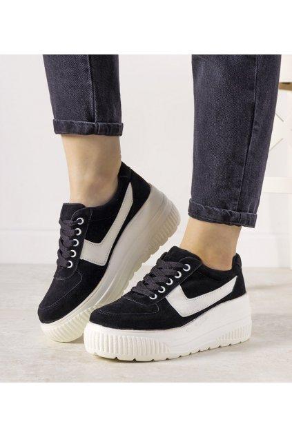 Dámske topánky tenisky čierne kód E3141 - GM