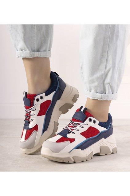 Dámske topánky tenisky modré kód E2009 - GM