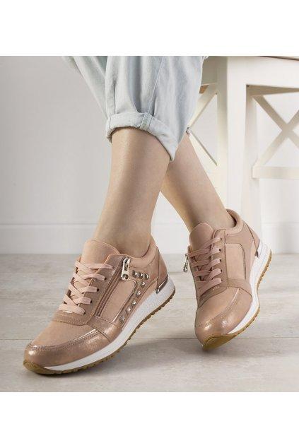 Dámske topánky tenisky ružové kód FB-97 - GM