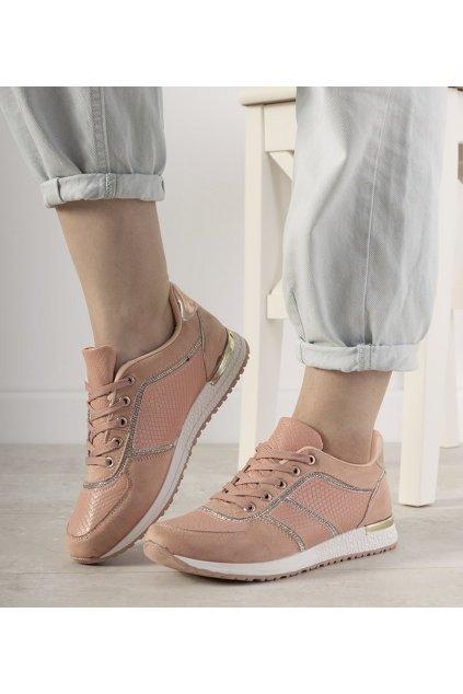 Dámske topánky tenisky ružové kód FB-118 - GM