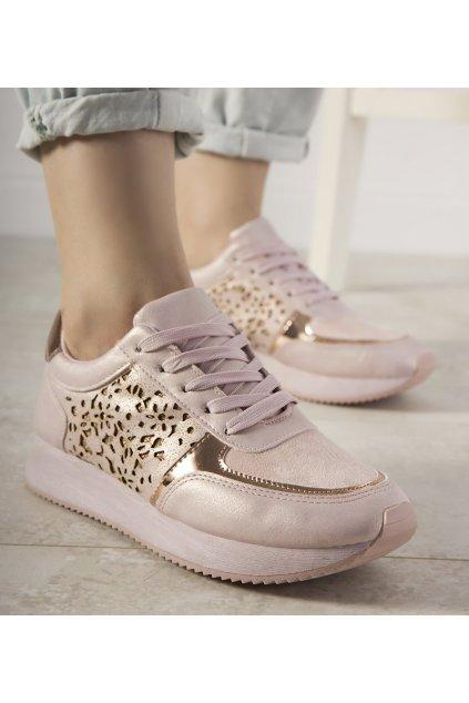 Dámske topánky tenisky ružové kód FB-113 - GM