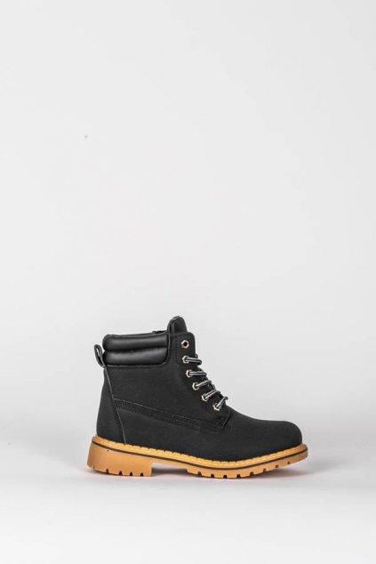 Dámske členkové topánky trapery čierne kód - GM