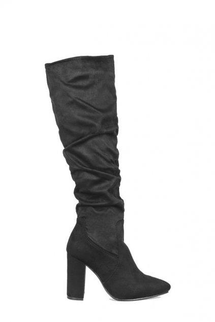 Dámske topánky čižmy čierne kód - GM