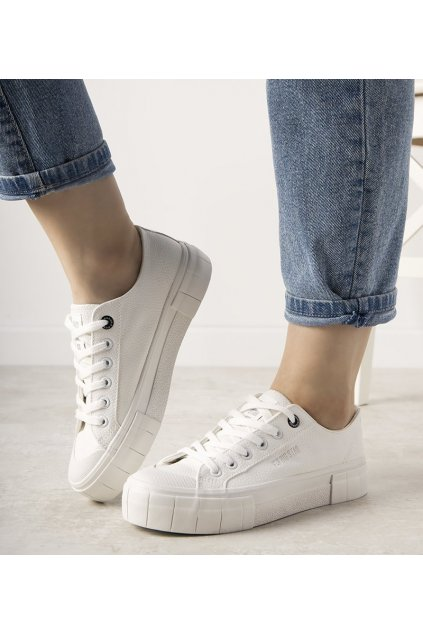 Dámske topánky BS biele kód II274188 - GM