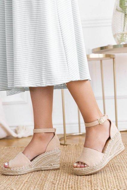 Dámske topánky sandále biele kód - GM