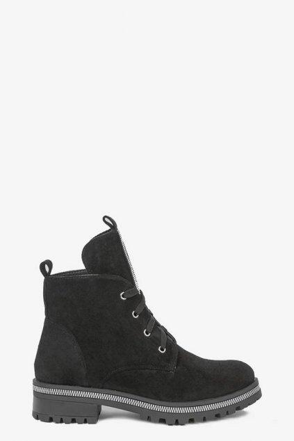 Dámske členkové topánky čierne kód - GM