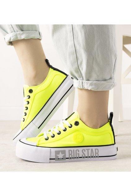 Dámske topánky BS žlté kód II274022 - GM