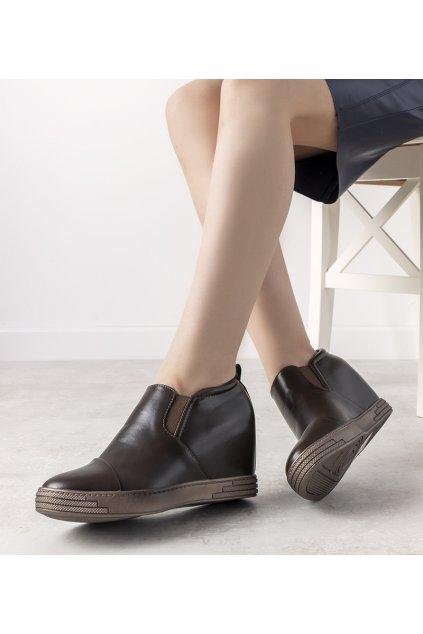 Dámske topánky tenisky hnedé kód TL-12 - GM