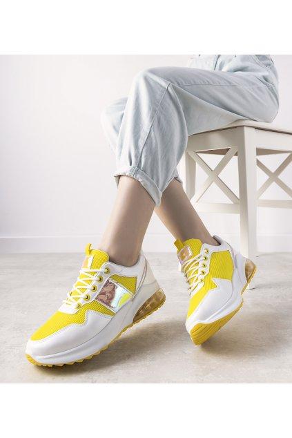 Dámske topánky tenisky biele kód BM1801-2 - GM