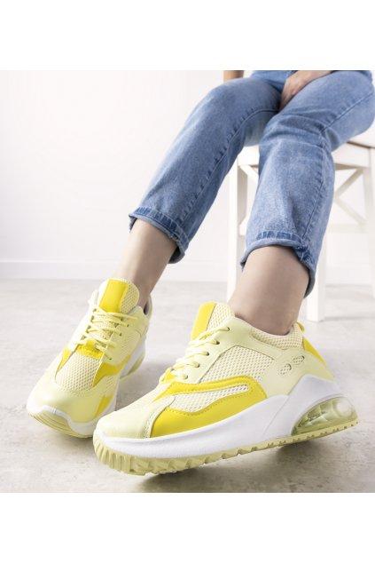 Dámske topánky tenisky žlté kód BM1802-5 - GM